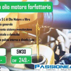 Cambio olio motore forfettario